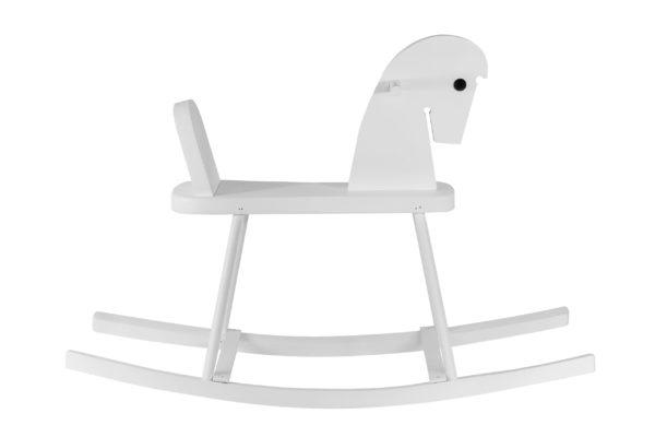 Biały konik na biegunach