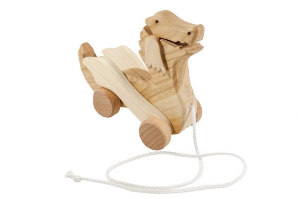 Drewniany smok na sznurku