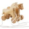 Drewniane koniki na sznurku