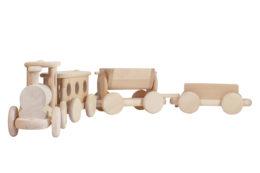 Kolejka z drewna