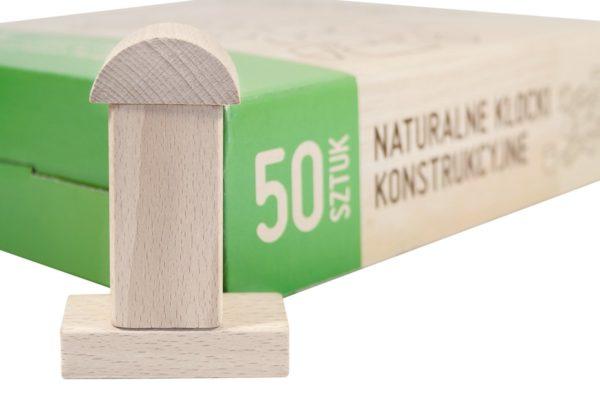 Drewniane klocki konstrukcyjne 50-el.