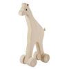 Drewniana żyrafa na kółkach