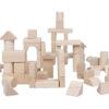 Drewniane klocki 100-elementowe