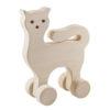 Drewniany kotek na kółkach