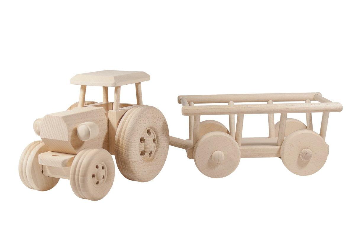 Drewniany Traktor zwozem