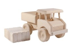 Drewniana ciężarówka z klockami