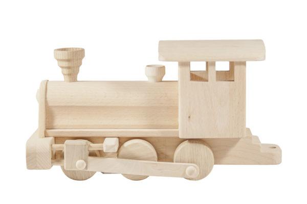 Drewniana lokomotywa z wagonami