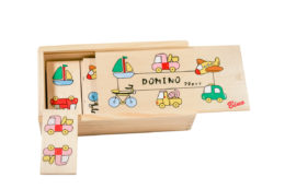 Drewniane domino z pojazdami