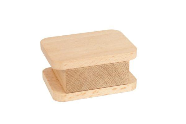 Drewniany stojak na długopisy