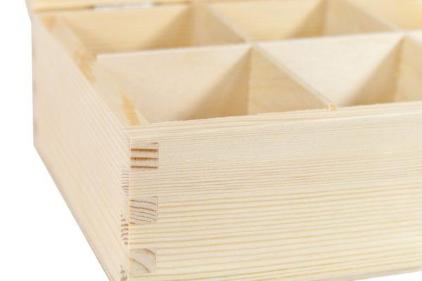 Drewniane pudełko herbaciarka