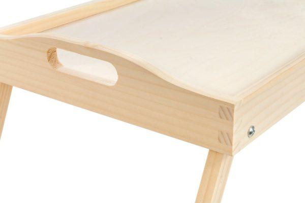 Taca z rozkładanymi nóżkami, drewniana