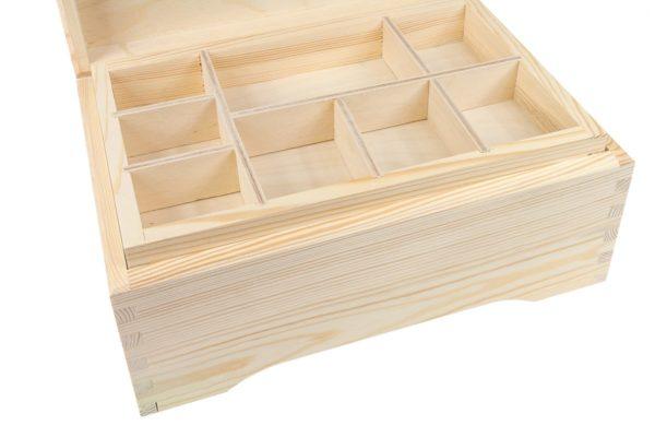 Skrzynka z drewna z wkładką - sorterem