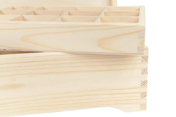 Drewniana skrzynka z sorterem