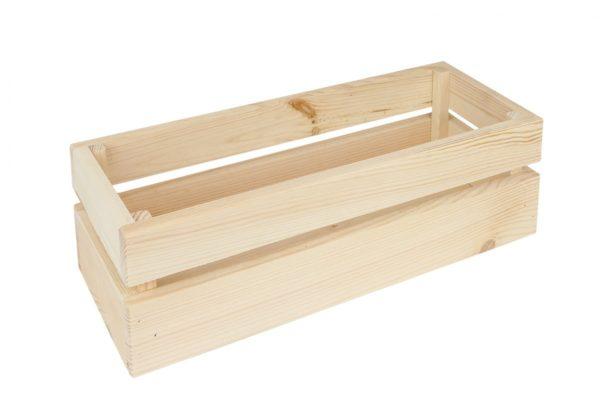 Drewniana skrzynka szczebelkowa