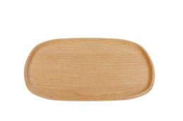 Talerz z drewna bukowego.