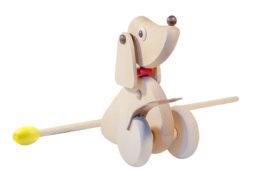 Drewniany pchacz, jeździk - Kaczka