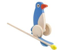 Drewniany pchacz, jeździk - pingwin
