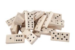 Domino klasyczne z drewna