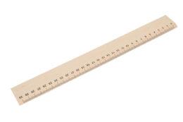 Drewniana linijka 30 cm