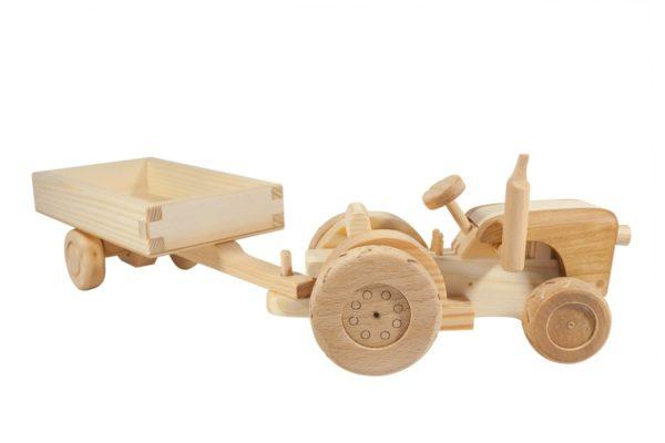 """Traktor z drewna """"John Deere"""""""