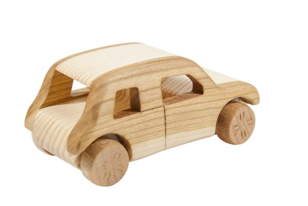 "Autko z drewna ""Mini Morris"""