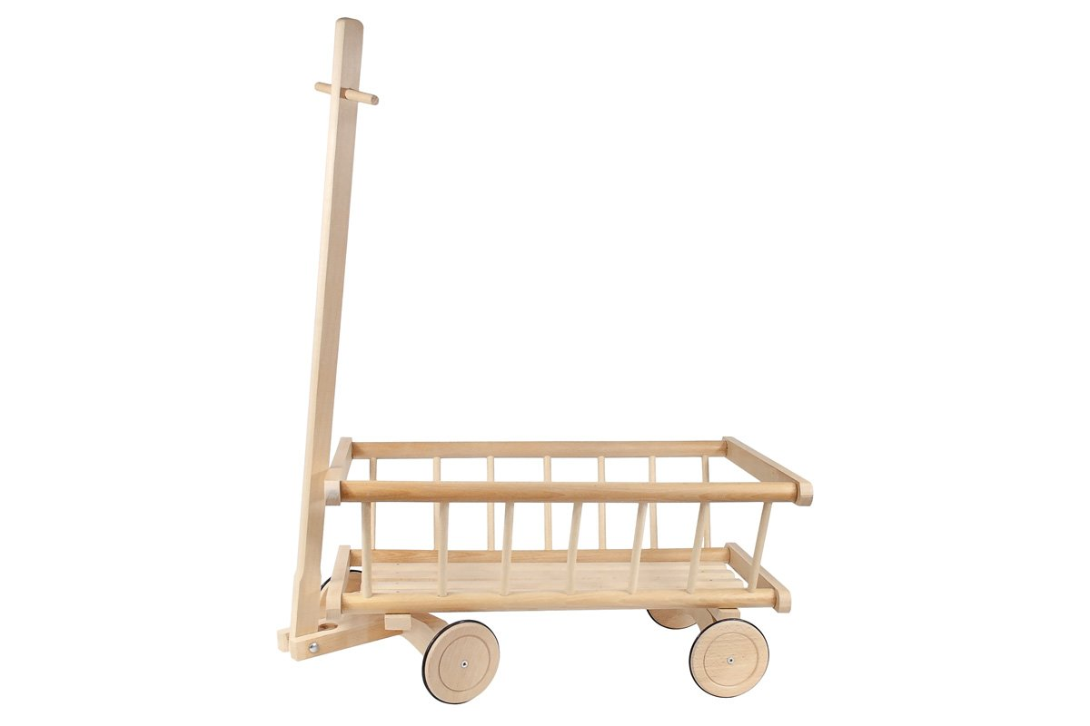 Duży solidny wózek zdrewna