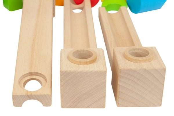 Drewniany tor dla kulek
