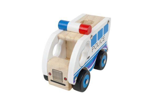 Autko z drewna - policja