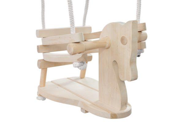 Drewniana huśtawka konik