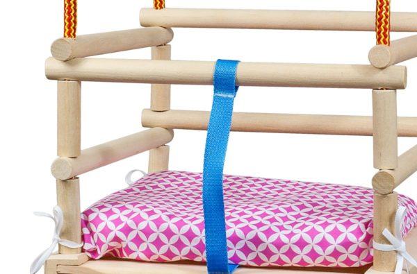 Drewniana huśtawka - podwieszana