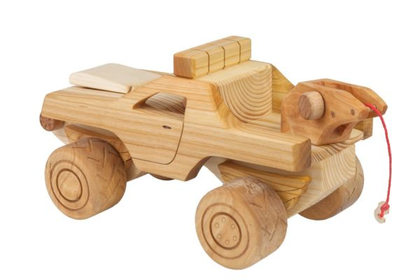 "Samochód ""Monster truck"" z drewna"