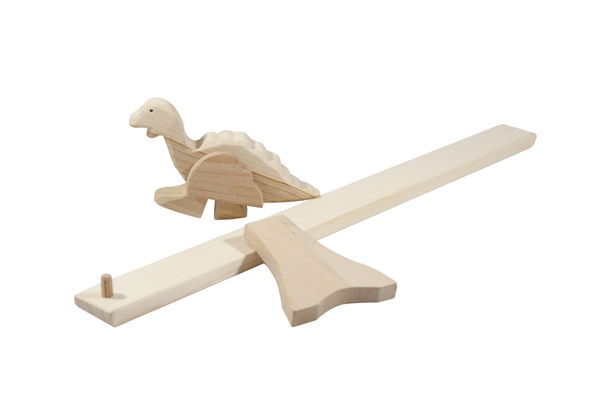 Drewniany dinozaur napochylni