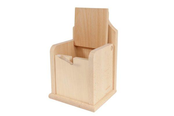 Drewniany pojemnik na sól