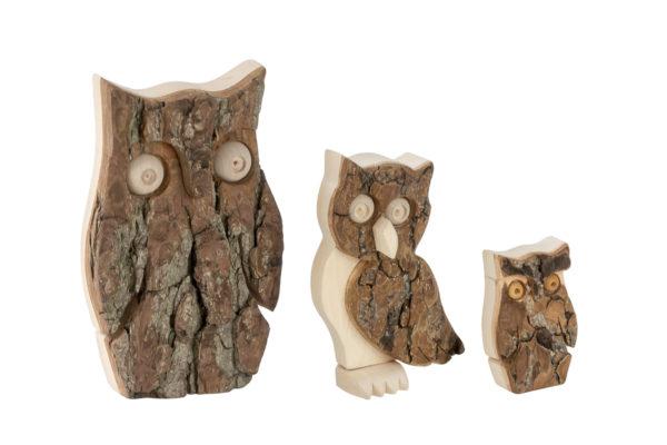 Drewniane figurki sów