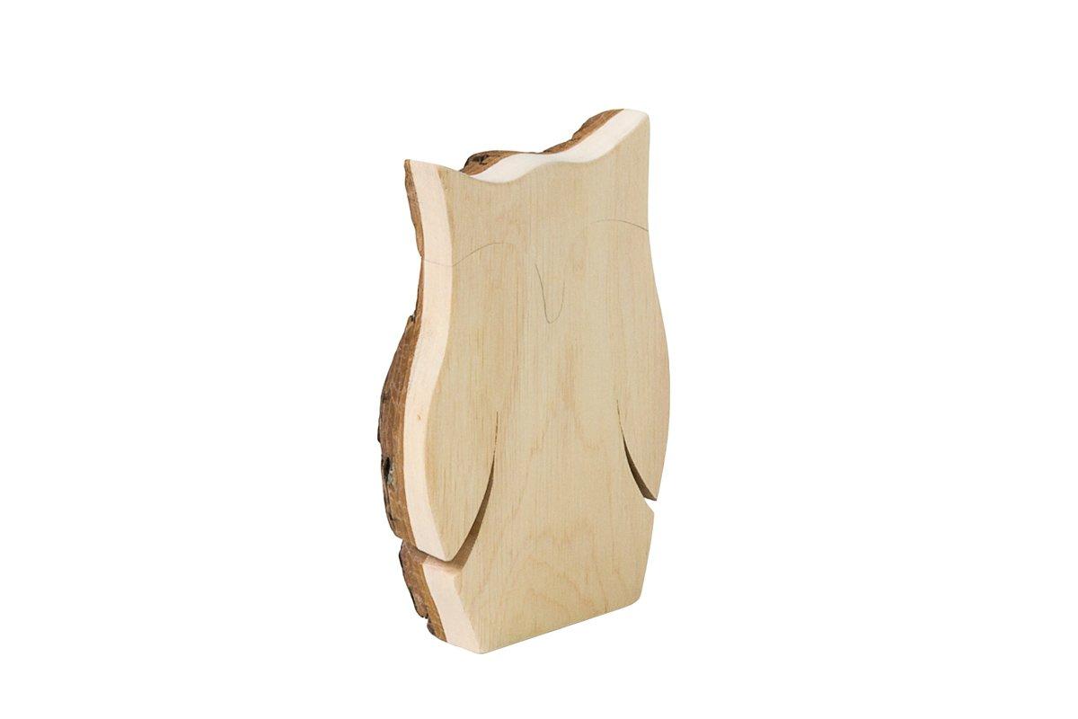 Drewniana figurka sowy