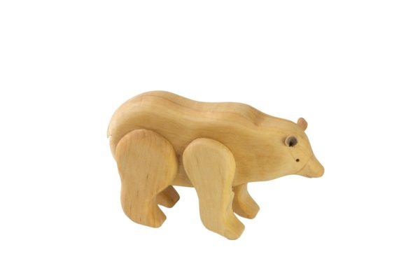 Drewniana figurka niedźwiedzia