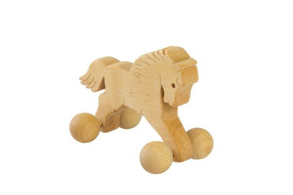 Drewniana figurka konika
