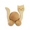 Drewniana figurka, jeździk - kotek