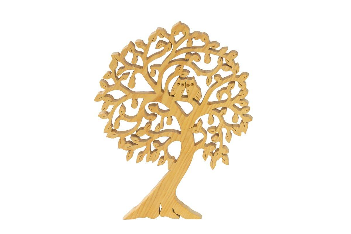 Ozdoba zdrewna - ażurowe drzewko zsówkami