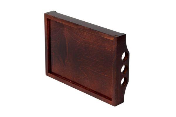 Drewniana tacka w kolorze wenge