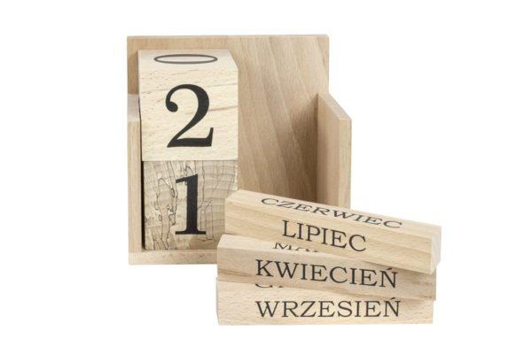 Kalendarz z drewna - wieczny