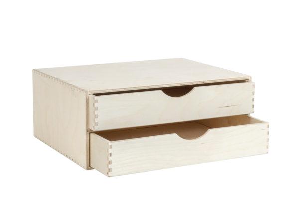 Organizer, komoda z drewna z 2 szufladami