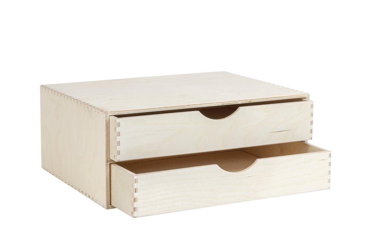 Organizer, komoda zdrewna z2 szufladami