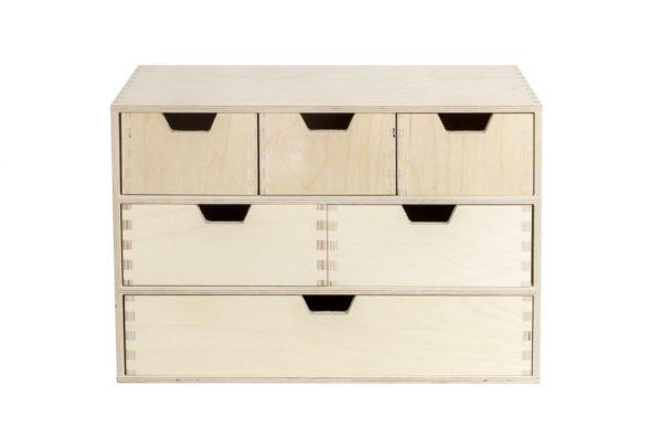 Organizer, komoda z drewna z 6 szufladami