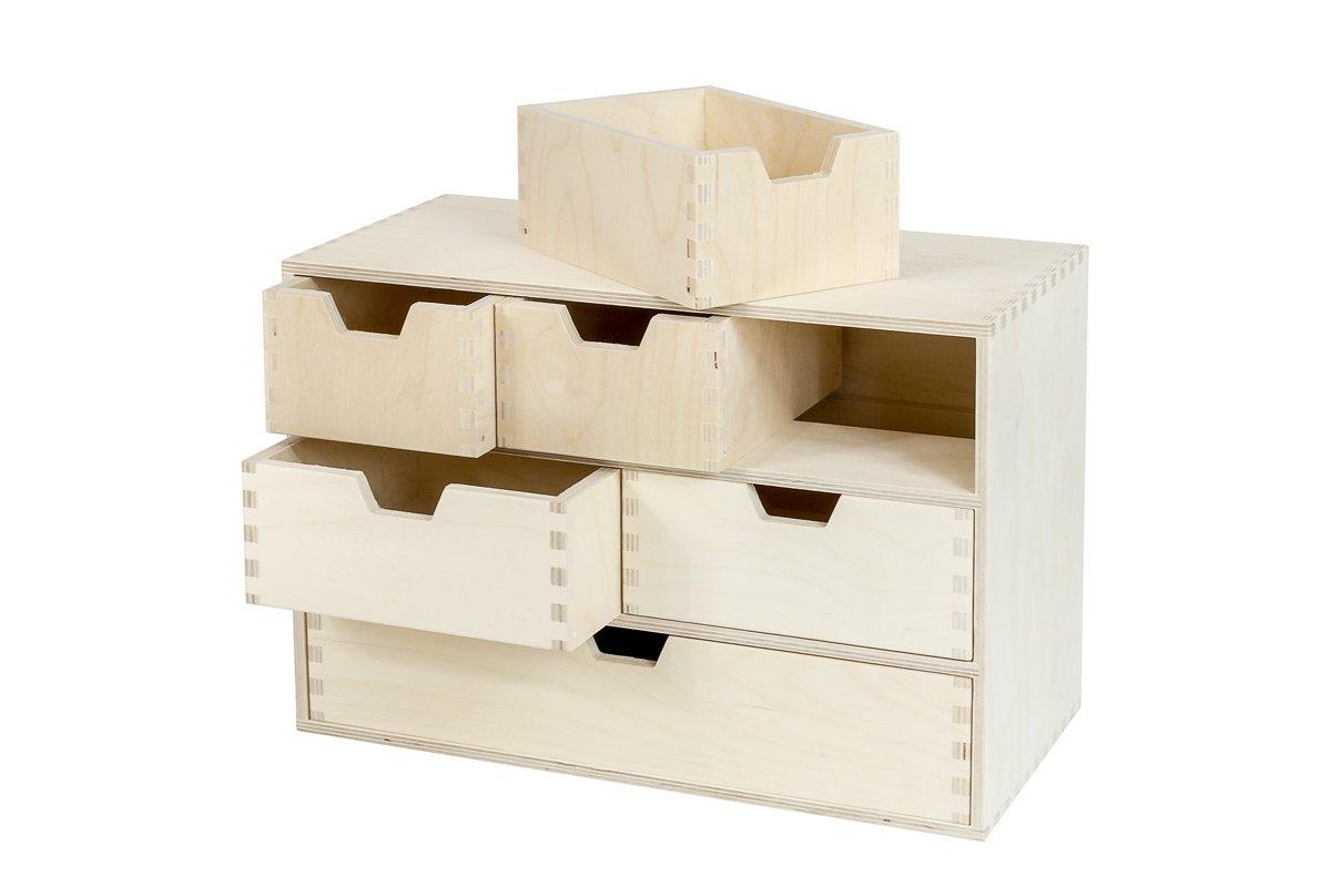 Organizer, komoda zdrewna z6 szufladami