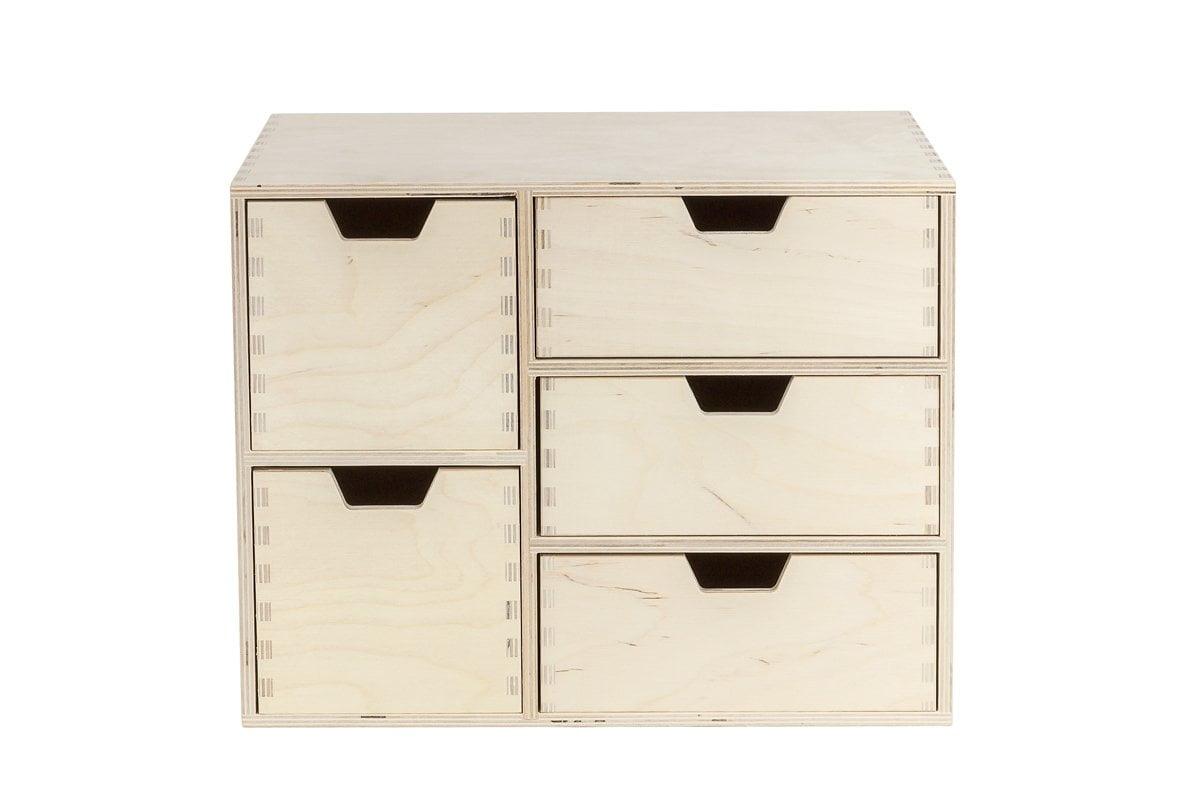 Organizer, komoda zdrewna z5 szufladami