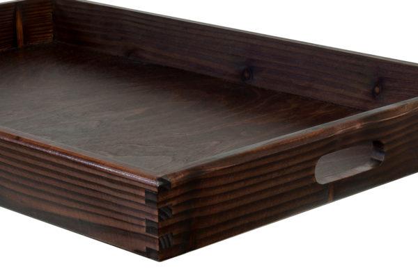 Duża, drewniana taca - kolor wenge