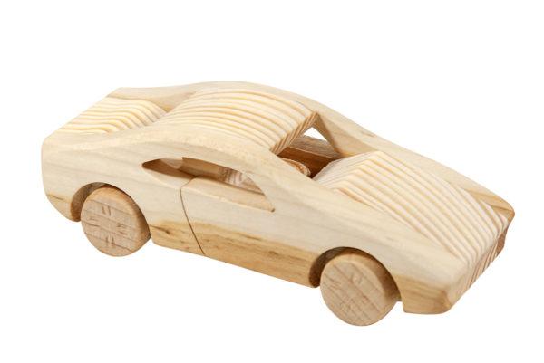 """Samochód, model z drewna - """"Ferrari"""""""