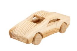 Samochód, model z drewna -