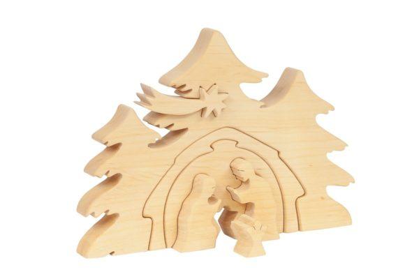Stajenka, szopka bożonarodzeniowa z drewna